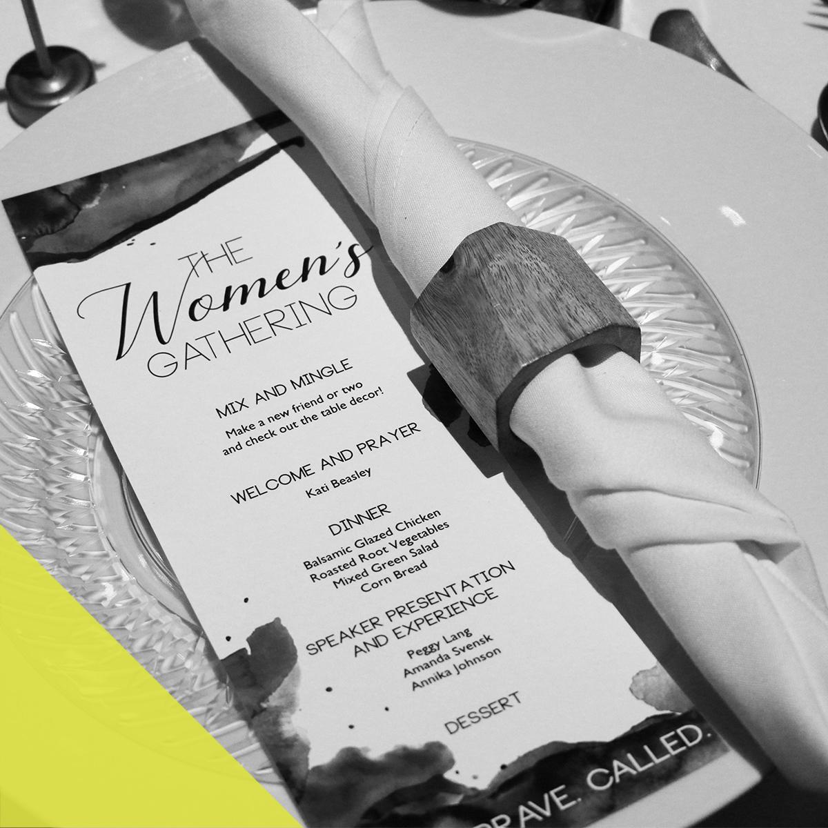 WOMEN'S GATHERING - print design / film / photography