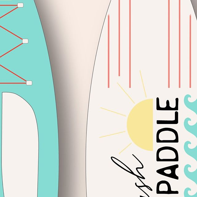 A sneak peek at a little personal project we've been working on! When your job is to create it's so important to take time to play and make projects just for fun. • • • #graphicdesign #paddleboards #watersports #personalproject #creativeplay