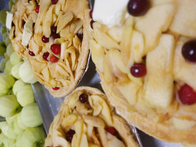 Apple Cranberry pie... Sideways photo.