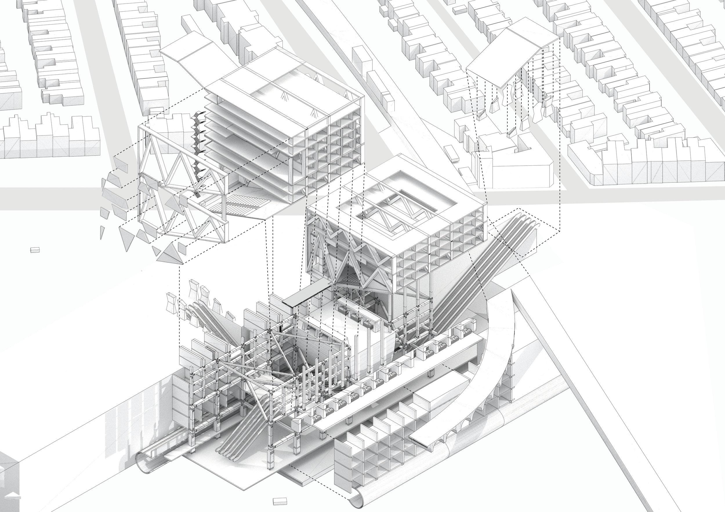 Civic Station Axo