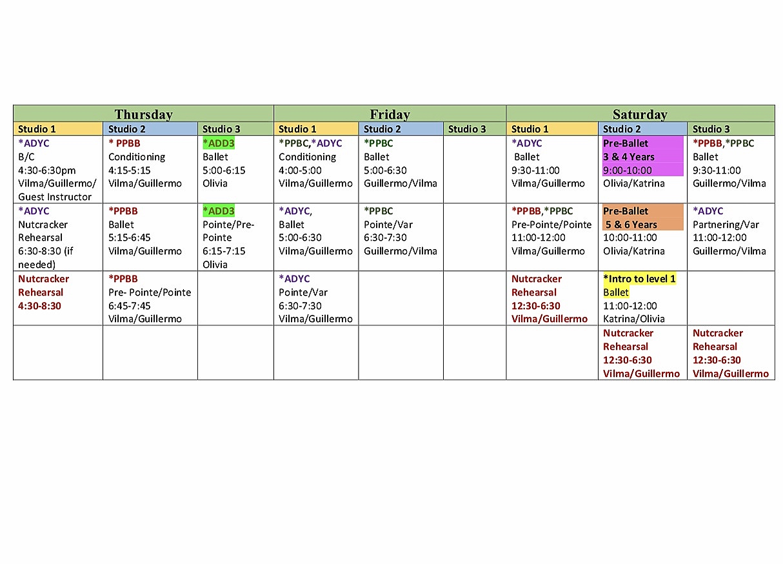 Schedule C 2020.2019 2020 Schedule Alma Dance School