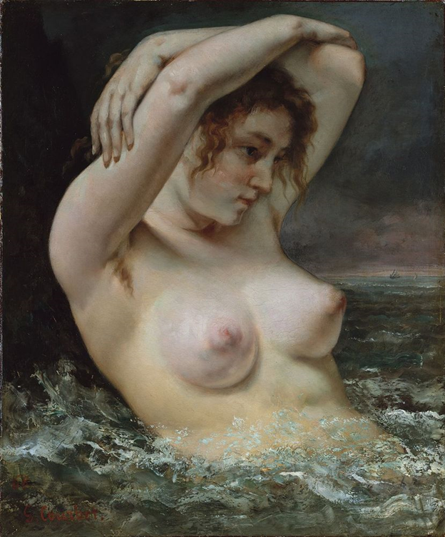 The Bather, 1858, Gustav Courbet