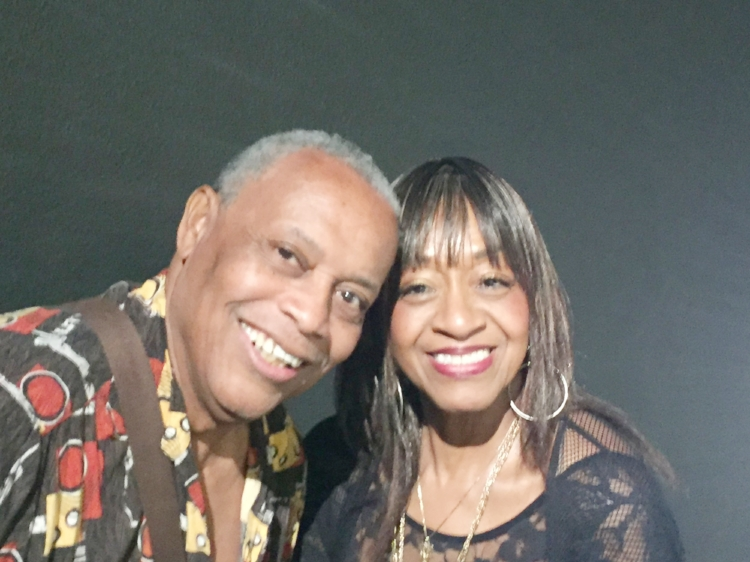 Calvin with Sonja in Palm Springs, CA.