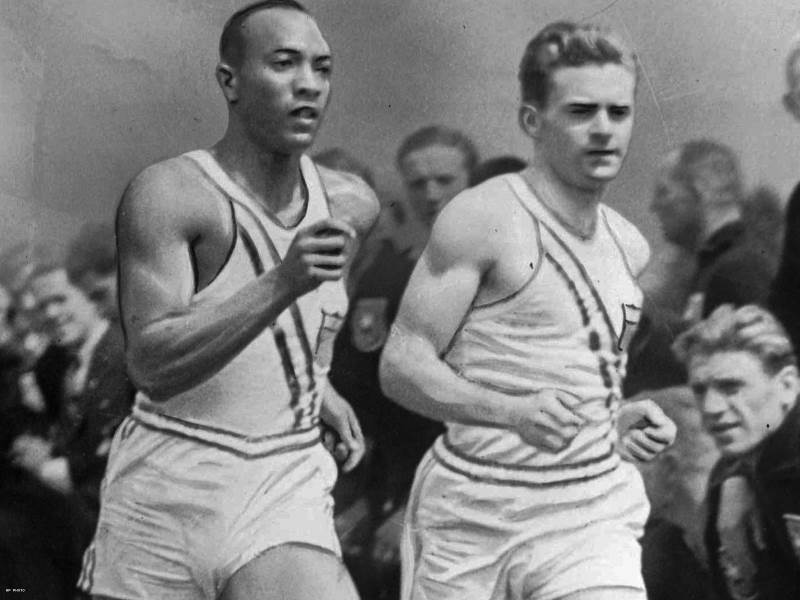 1936 Olympic workout of Jesse Owens and Frank Wykoff