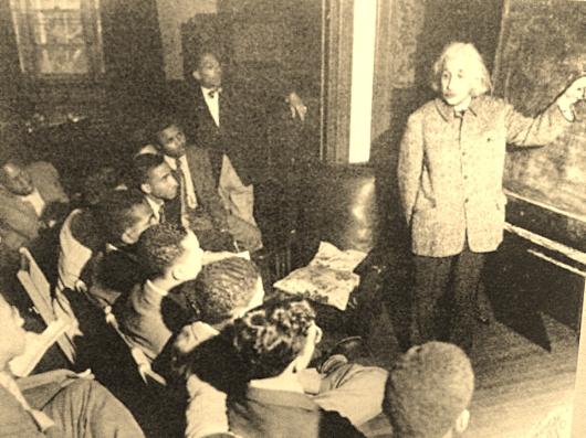 Albert Einstein Teaching Physics Afro-American Class