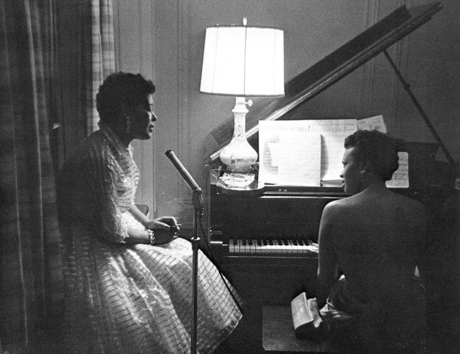 Billie Holiday and Hazel Scott Jazz legends