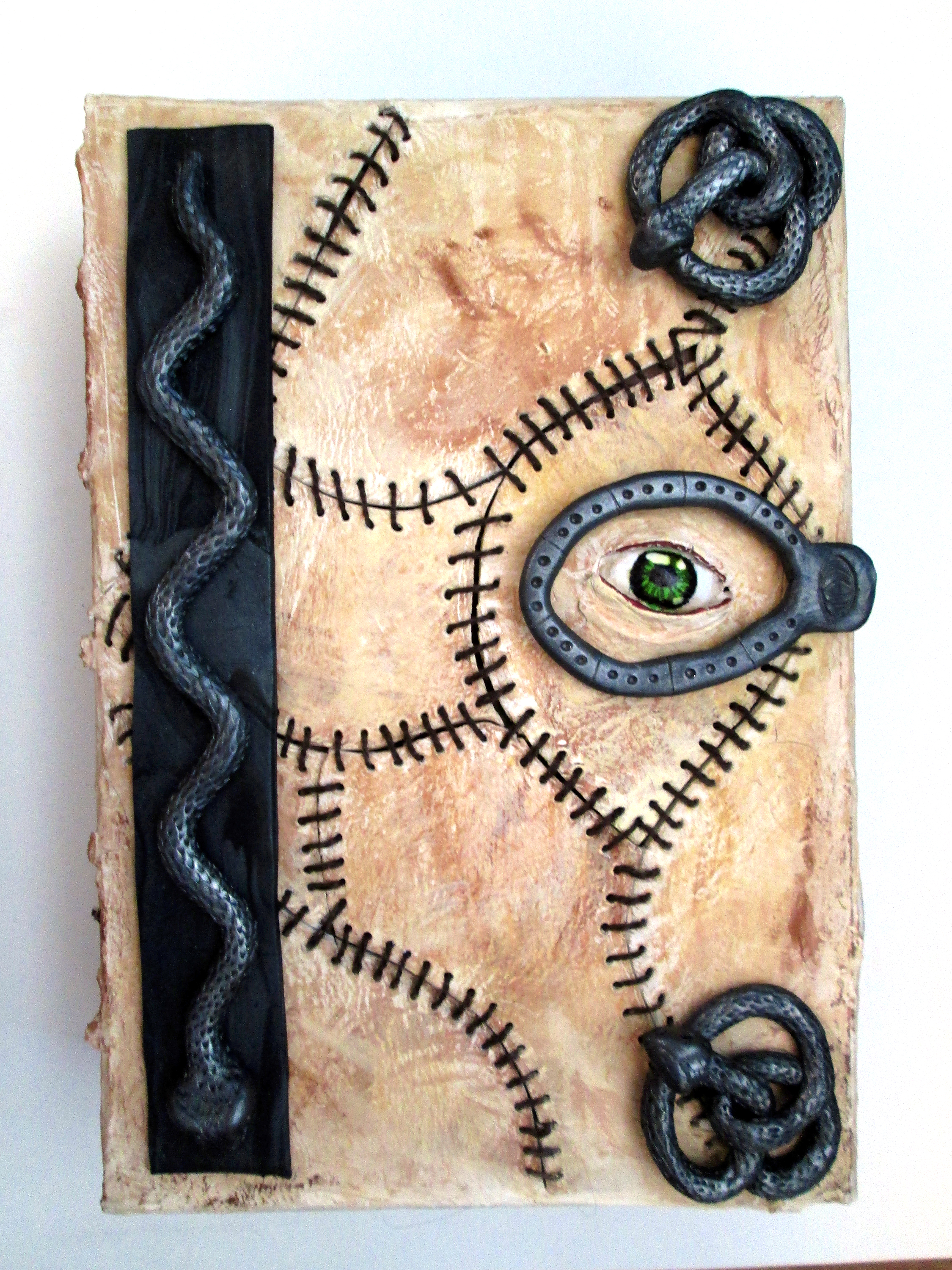Fleshbound book  Paperclay, polymerclay