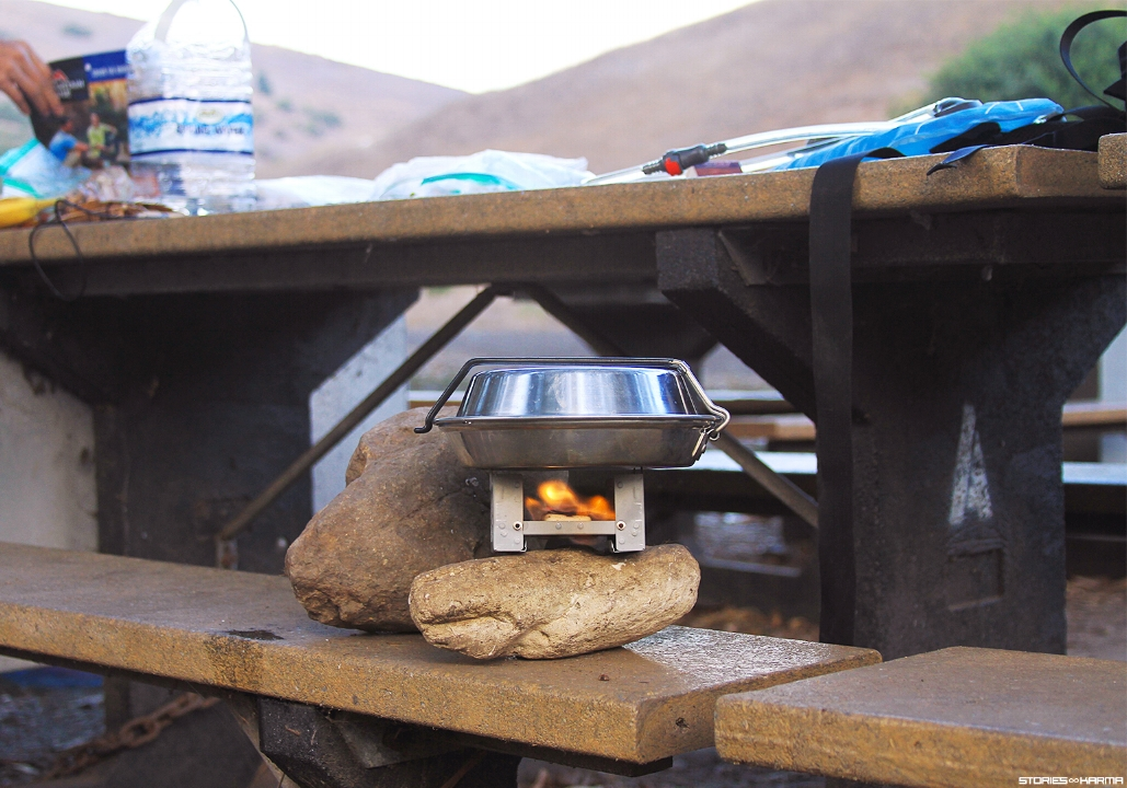 No campfires meant using a mini stove to boil our water.