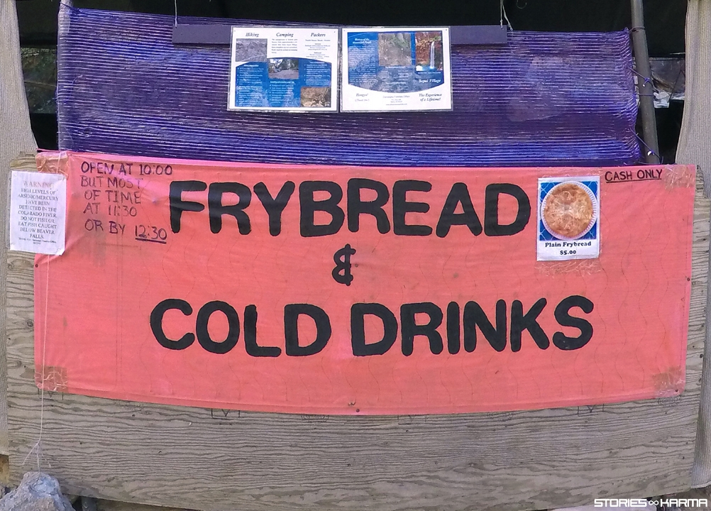 "Frybread giving no fucks. ""OPEN AT 10:00. BUT MOST OF TIME AT 11:30. OR BY 12:30."""