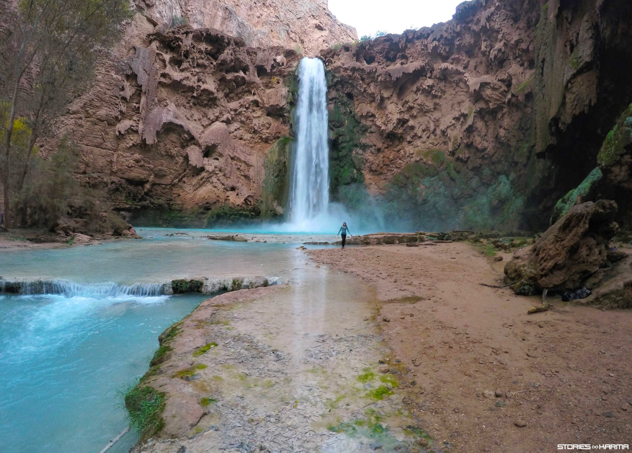 190' Mooney Falls. Earned it.
