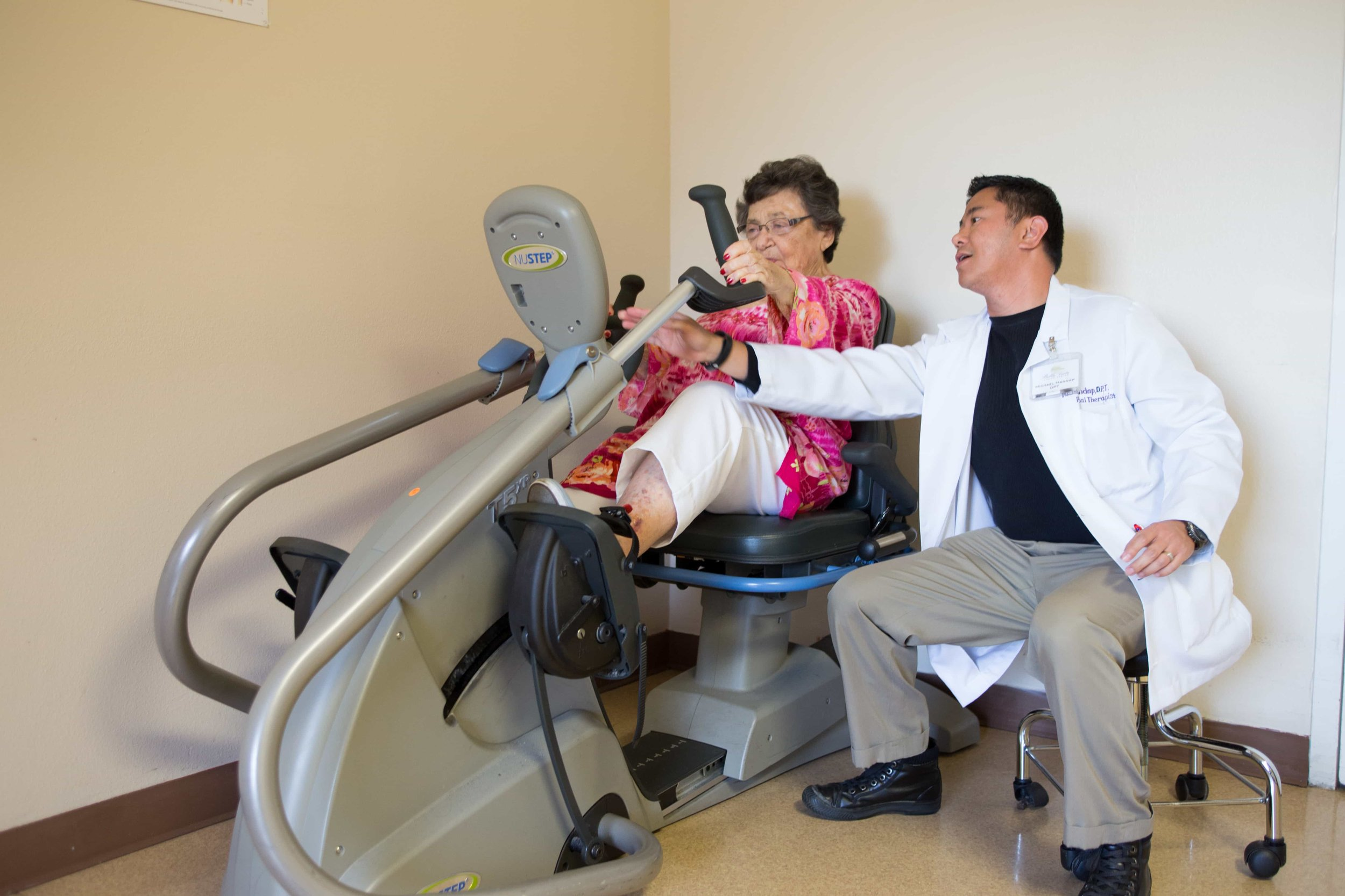 Patient working on occupational therapy activity