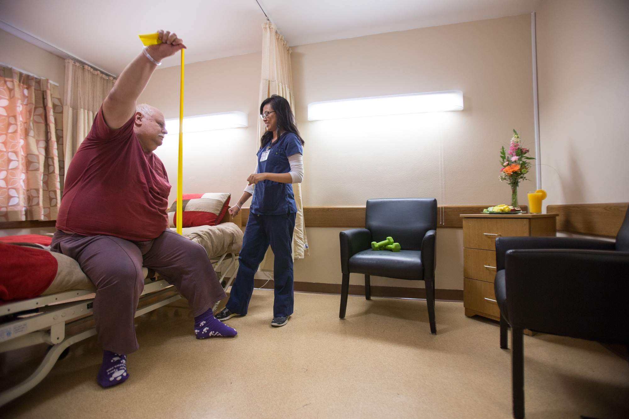 man-in-short-term-rehab-with-nurse