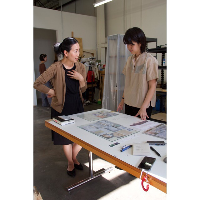 Thank you to Grace Kook-Anderson, Curator of Northwest Art at Portland Art Museum, for spending a day in the studios with our artists in residence!