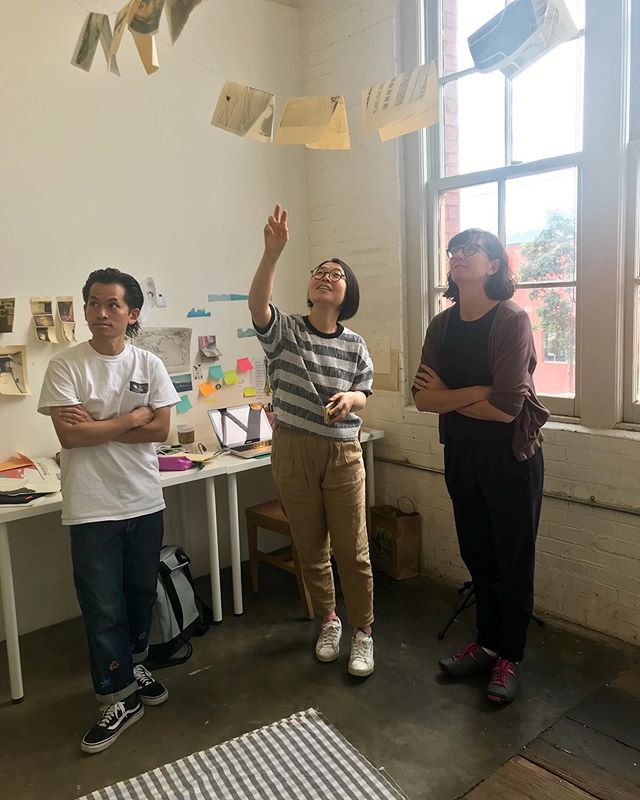 Studio visits with Sara Krajewski, Curator of Modern and Contemporary Art at the Portland Art Museum. Thank you Sara for making time to meet with all of our artists!
