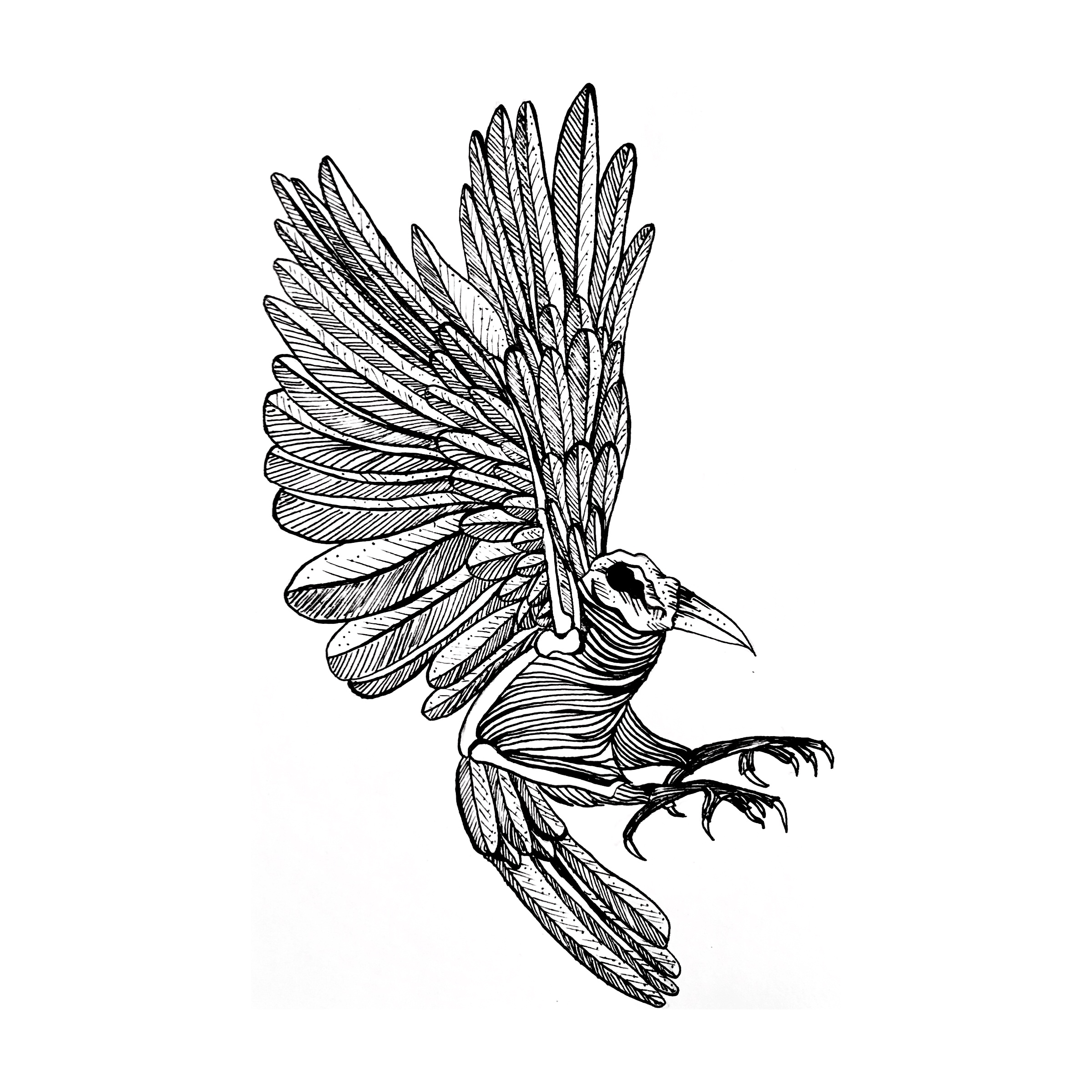 Custom tattoo design, 2017.