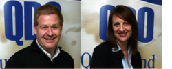 Left to right:Adrian Pratt & Kylie Dennis