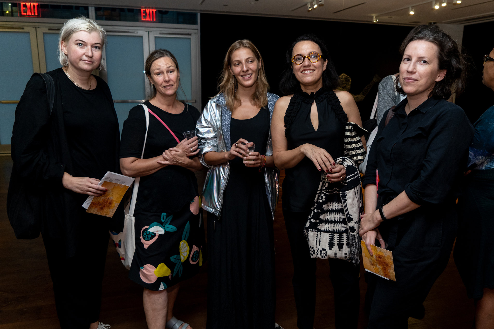 Kasia Gumpert, Jennifer Karady, Ida Bochenska, Monika Fabijanska, Agata Endo Nowicka. The Un-Heroic-Act opening. Photo Austin Pogrob