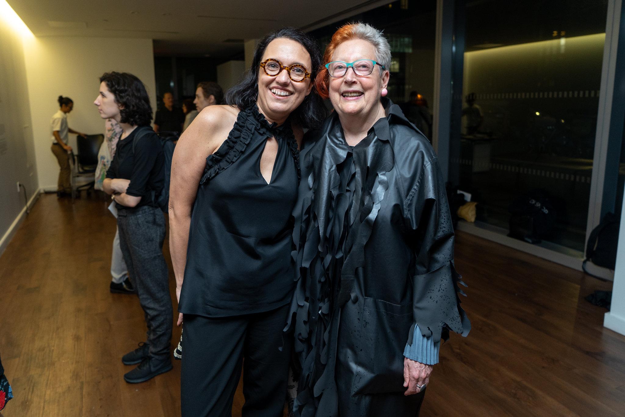 Monika Fabijanska, Martha Wilson. The Un-Heroic-Act opening. Photo Austin Pogrob