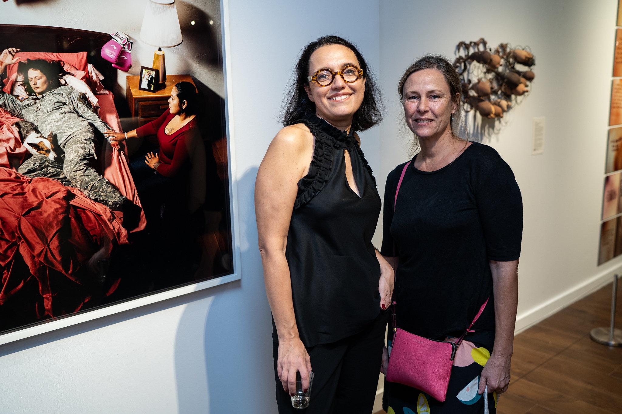 Monika Fabijanska, Jennifer Karady. The Un-Heroic-Act opening. Photo Austin Pogrob
