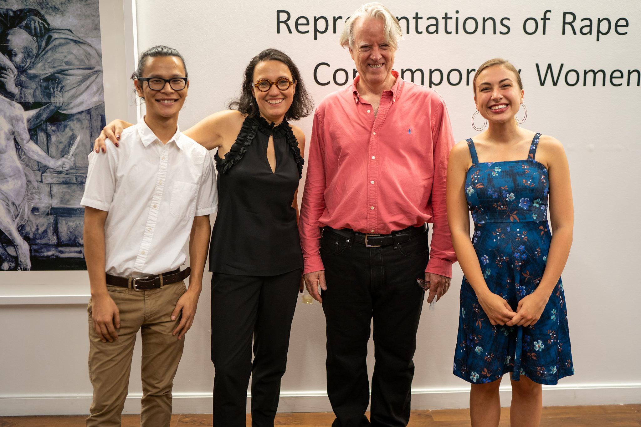 Lobsang Tsewang, Monika Fabijanska, Bill Pangburn, Samantha Hansen. The Un-Heroic-Act opening. Photo Austin Pogrob