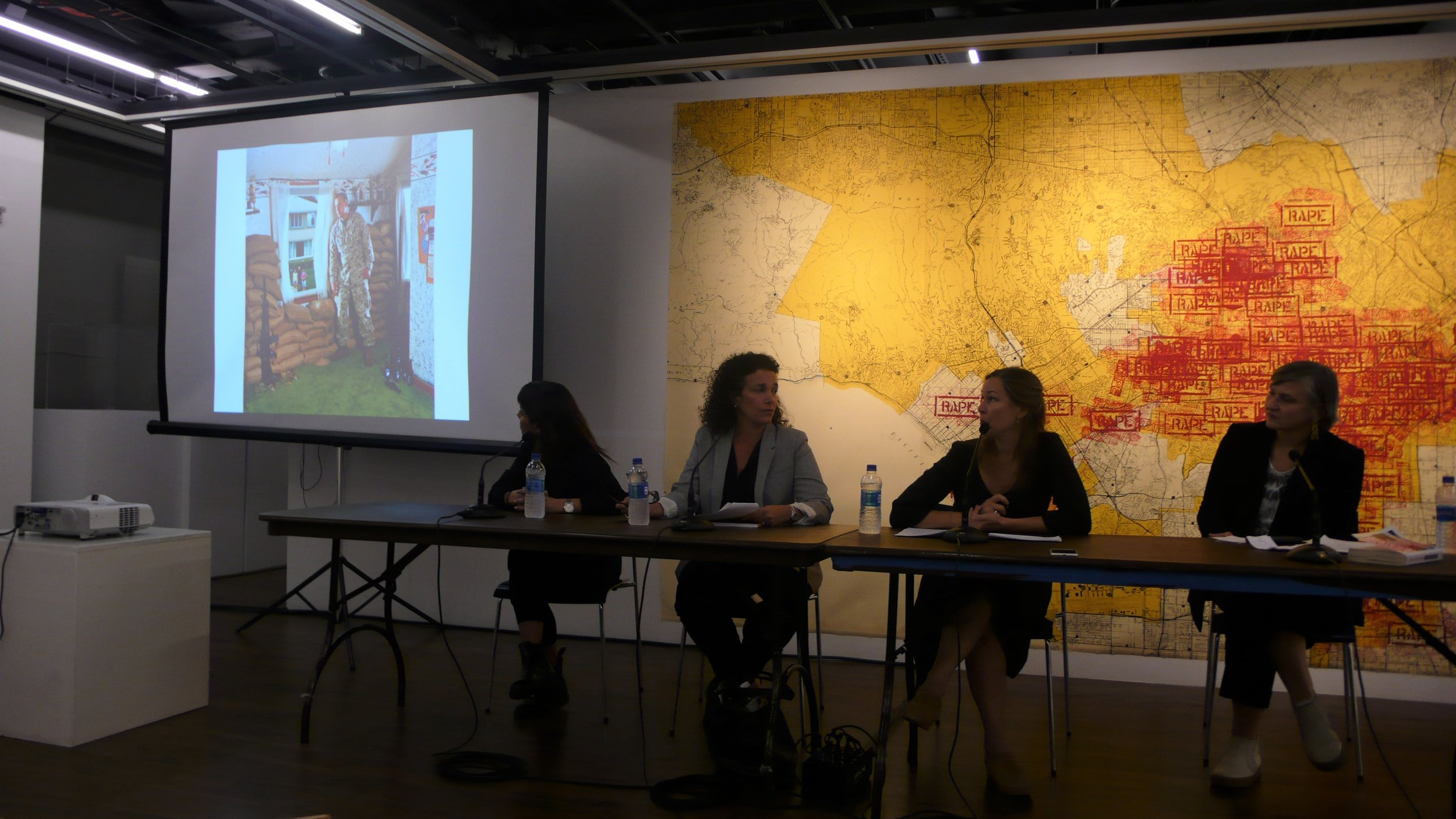 Ada Trillo, Shonna Trinch, Jennifer Karady, Christine Clifford_The Un-Heroic Act_Artist Talk_Sept. 26 2018. Photo Jerzy Warman