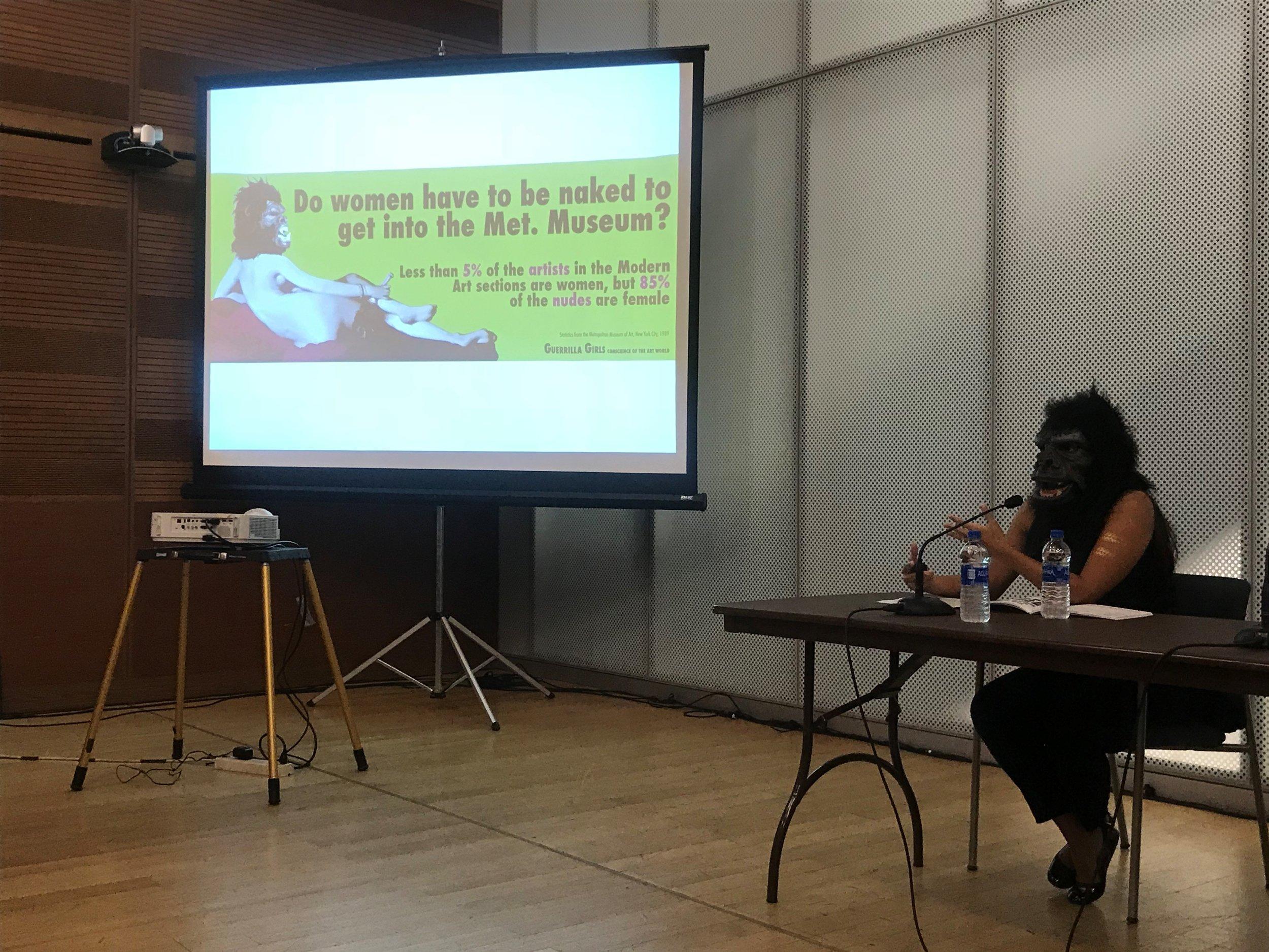 Guerrilla Girls_The Un-Heroic Act_Symposium_Oct. 3 2018. Photo Monika Fabijanska