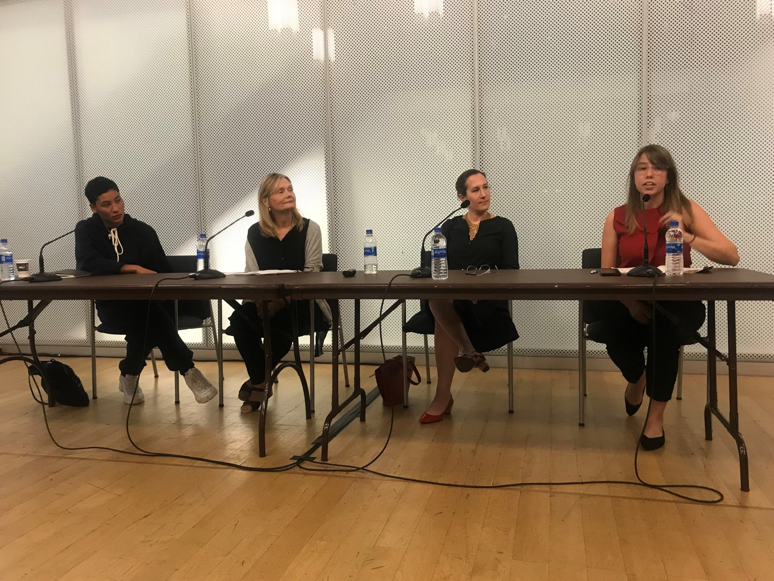 Naima Ramos Chapman, Kathleen Gilje, Natalie Frank, Carmen Hermo, The Un-Heroic Act_Symposium_Oct. 3 2018. Photo Monika Fabijanska