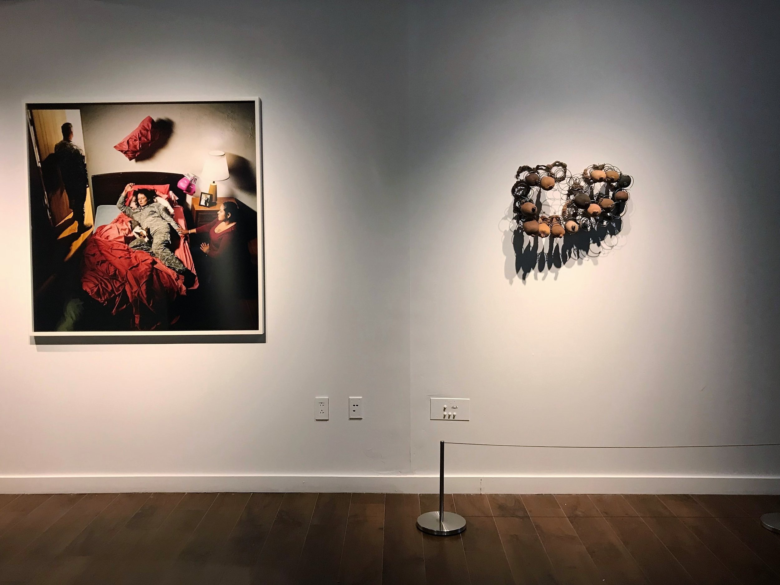 20_Works by Jennifer Karady and Senga Nengudi, installation view, The Un-Heroic Act, Shiva Gallery JJC. Photo Monika Fabijanska