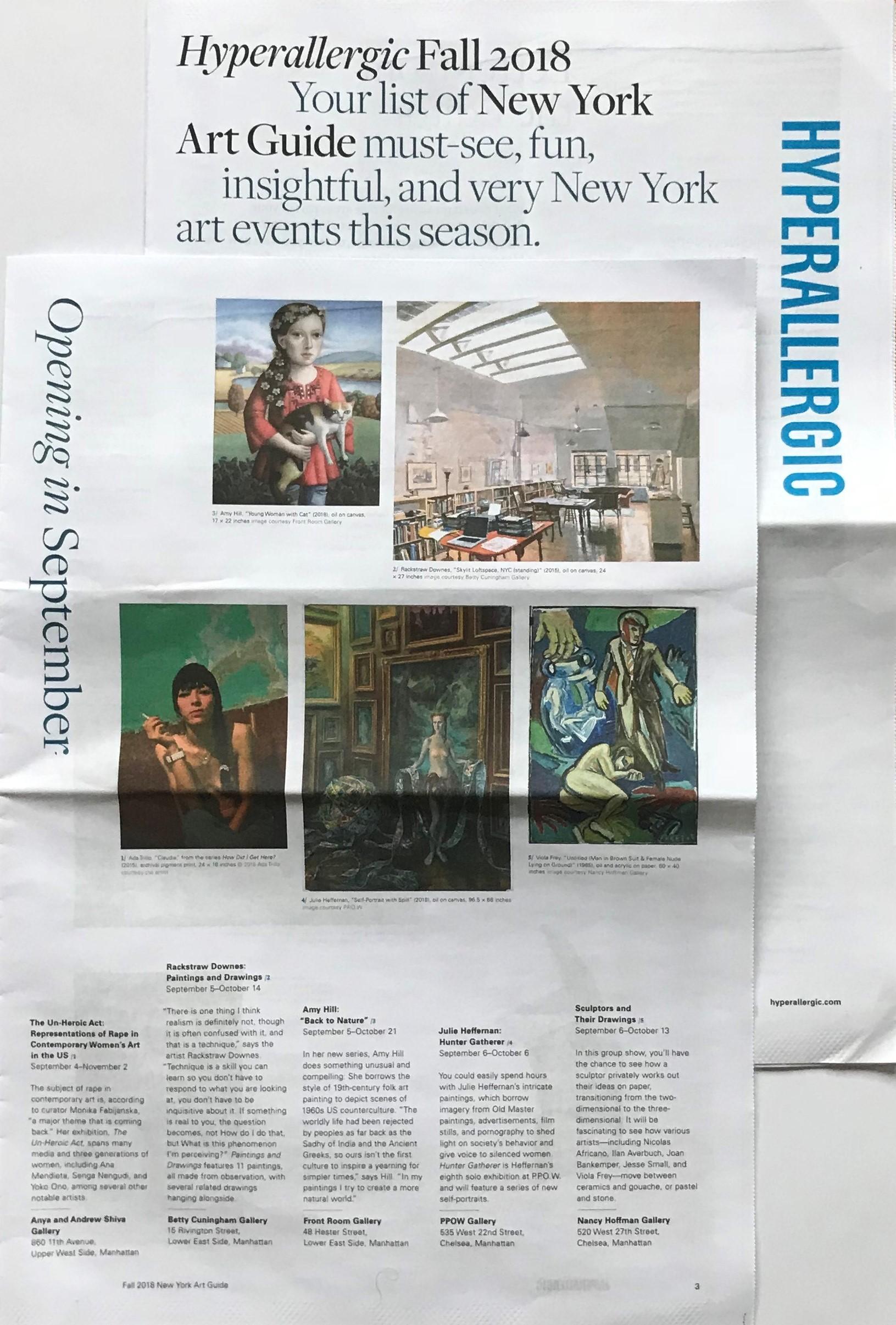 Hyperallergic Fall 2018 Art Guide