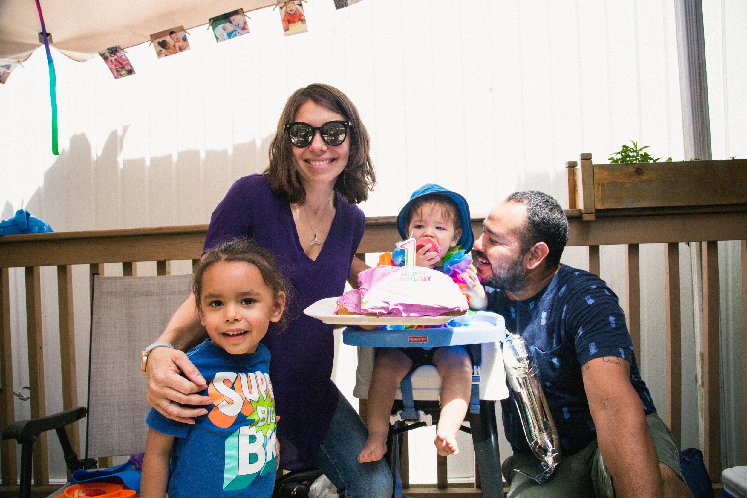 backyard first birthday party