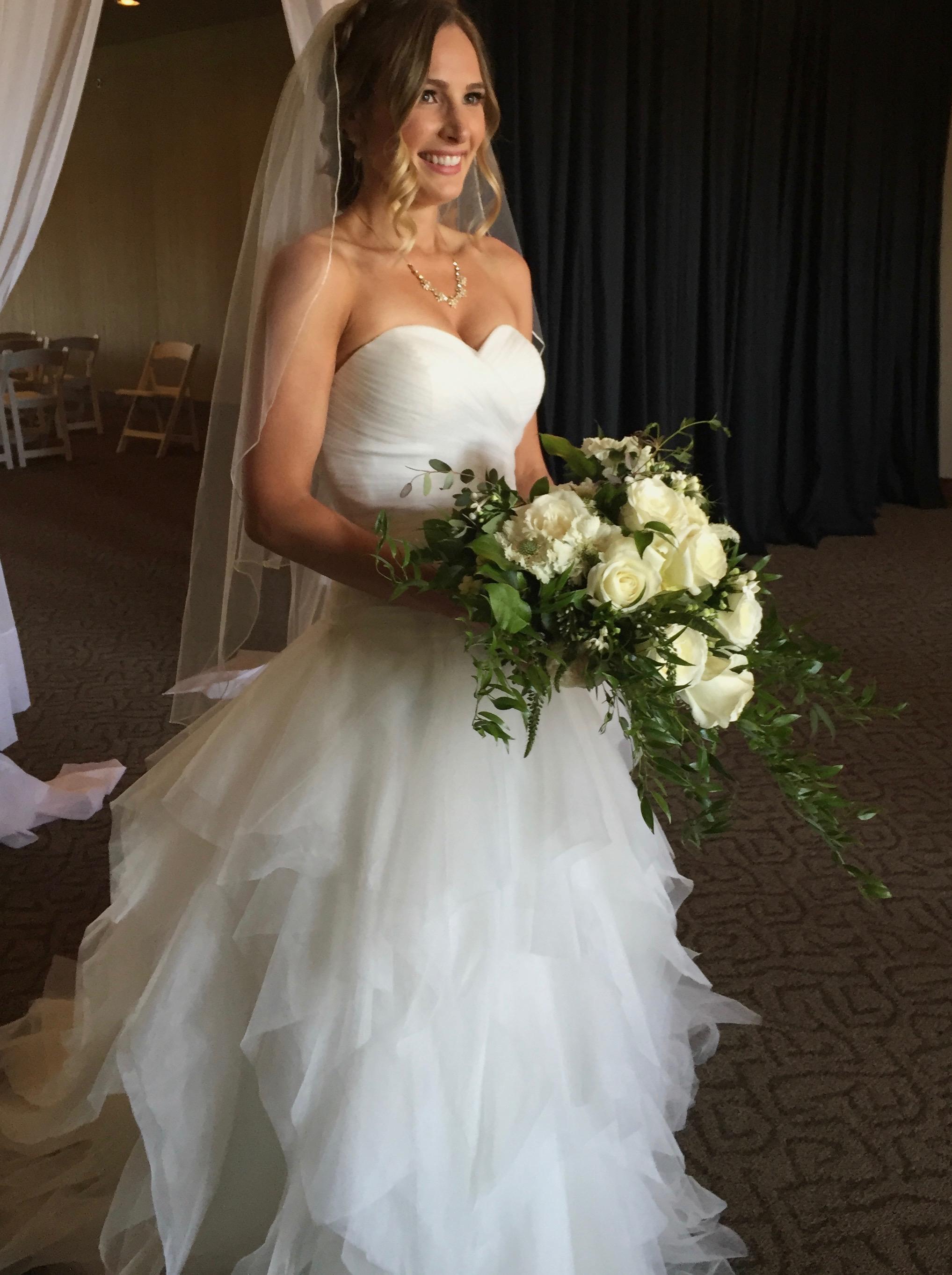 Romantic elegance white bouquet