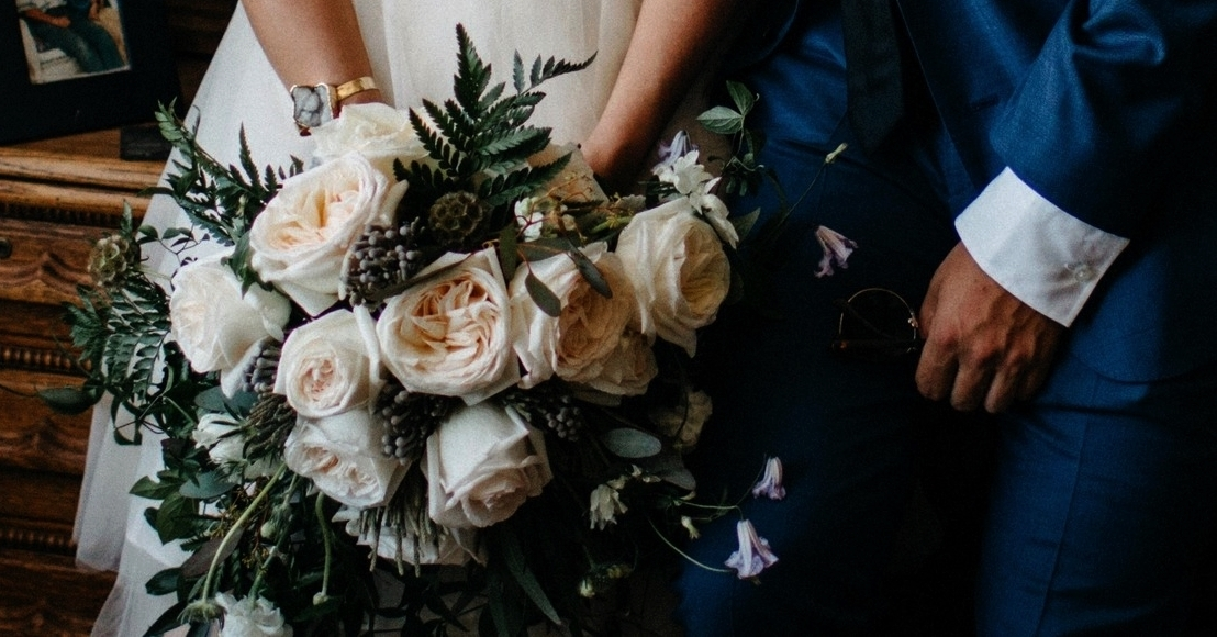 Bride's blush bouquet - Dylan and Sarah Photography