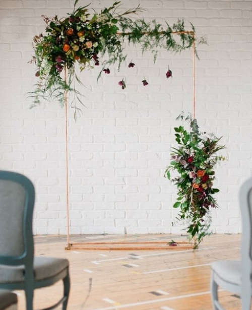 A  simple construction allowing the flowers and foliage to do all the talking.. www.mywedding.com photo by Anushe Low