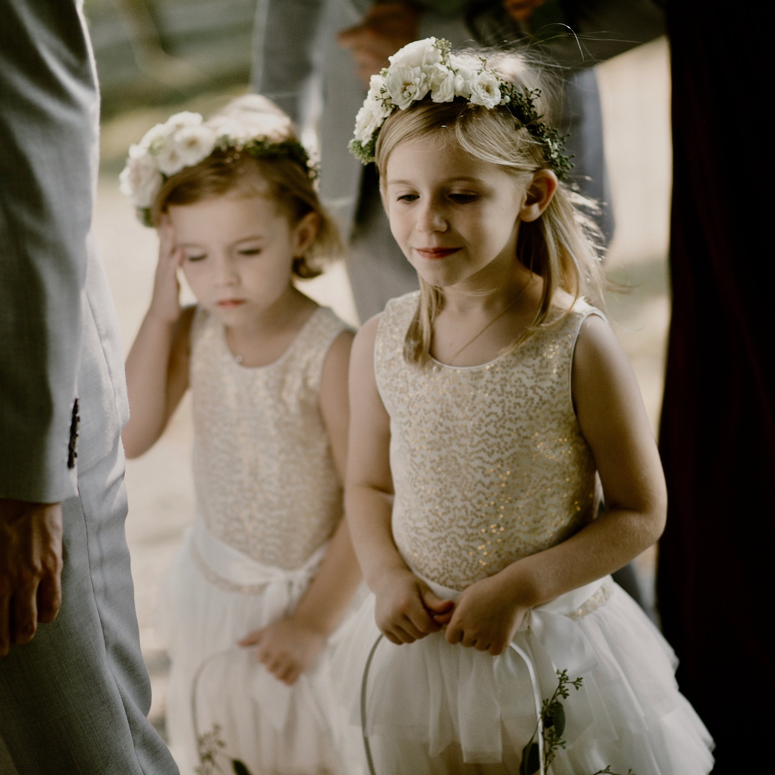 Flower girls with crowns-Photo by Kristen Marie Parker