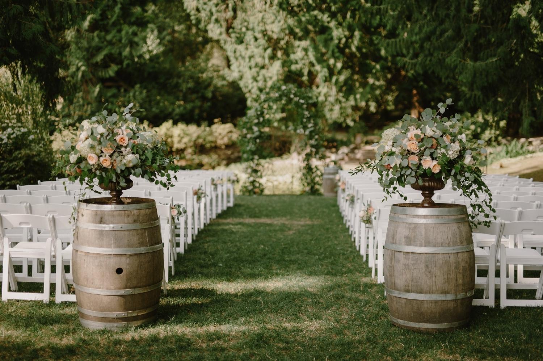 Ceremony arch & arrangements-Photo by Kristen Marie Parker