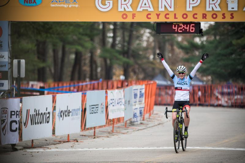 Ruby West captured the win at the NBX Gran Prix of 'Cross and the overall Vittoria Series victory in 2017. Photo: Angelica Dixon
