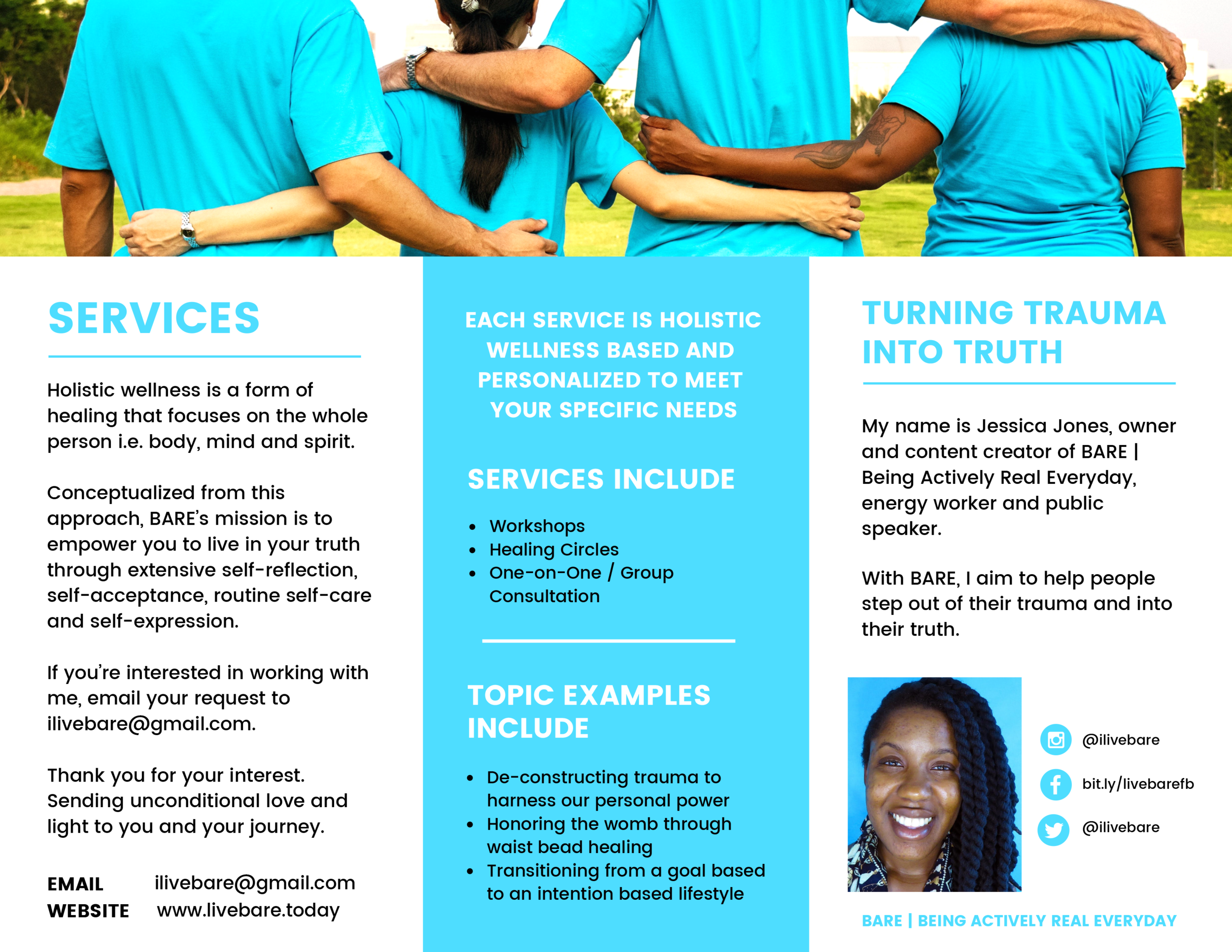 BARE | Being Actively Real Everyday services | click here to download the brochure