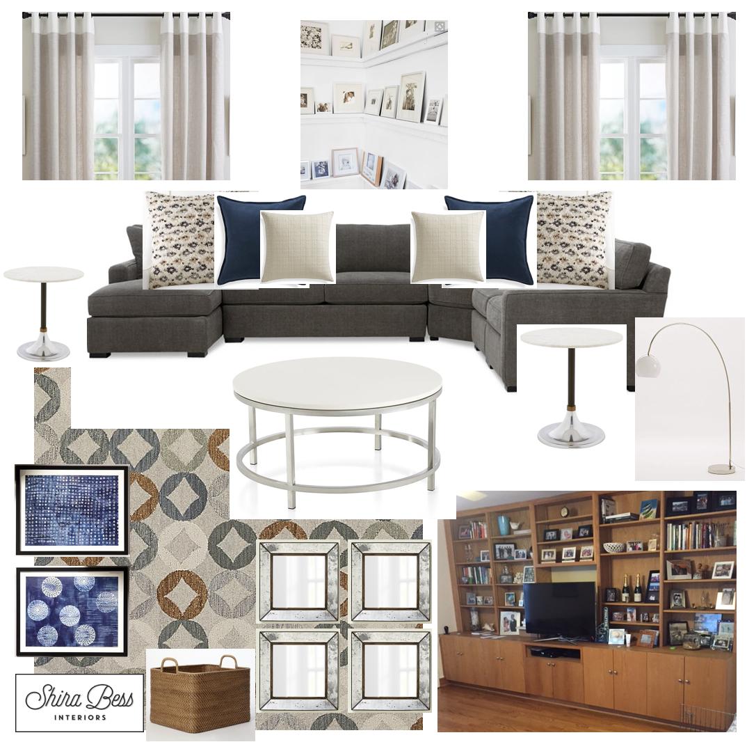Upstate NY Family Room - Final Design