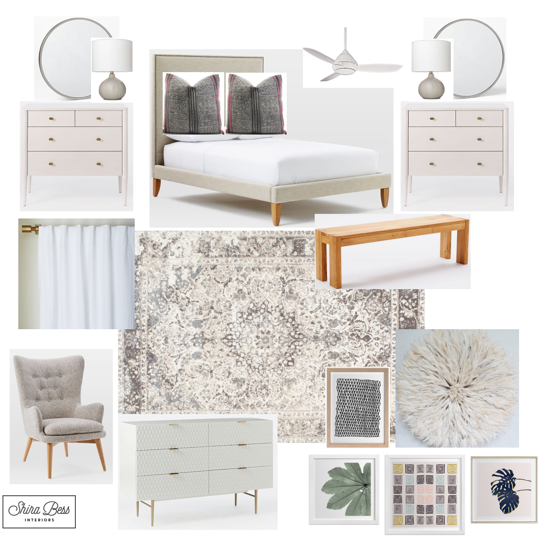 Delray Master Bedroom - Final Design