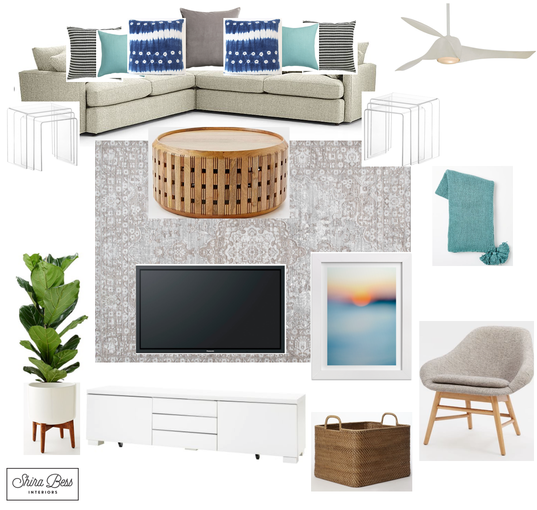 Delray Family Room - Option 1
