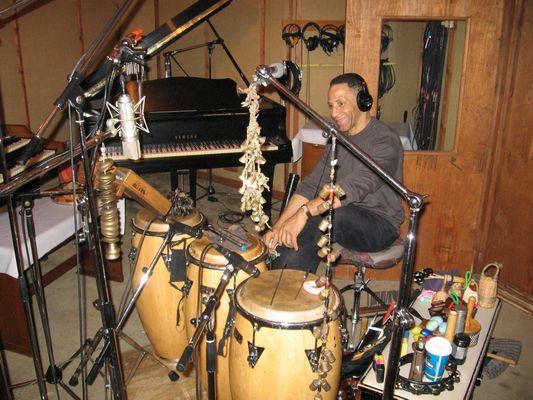(Len Barnett in studio)