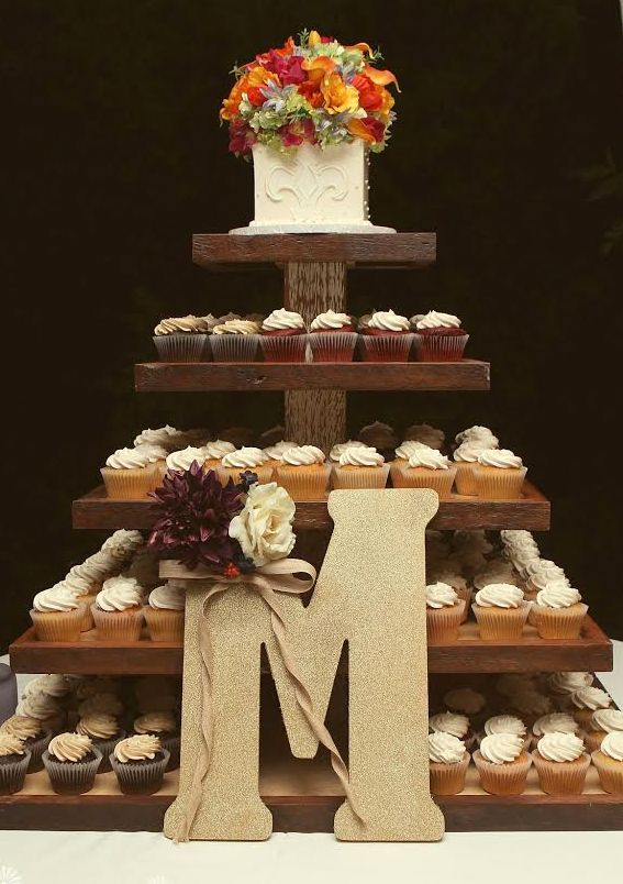 cupcakes-wedding wooden stand with topper.jpg