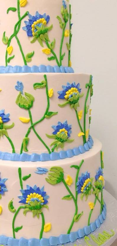 blue and green 3 tiered flower cake.jpg