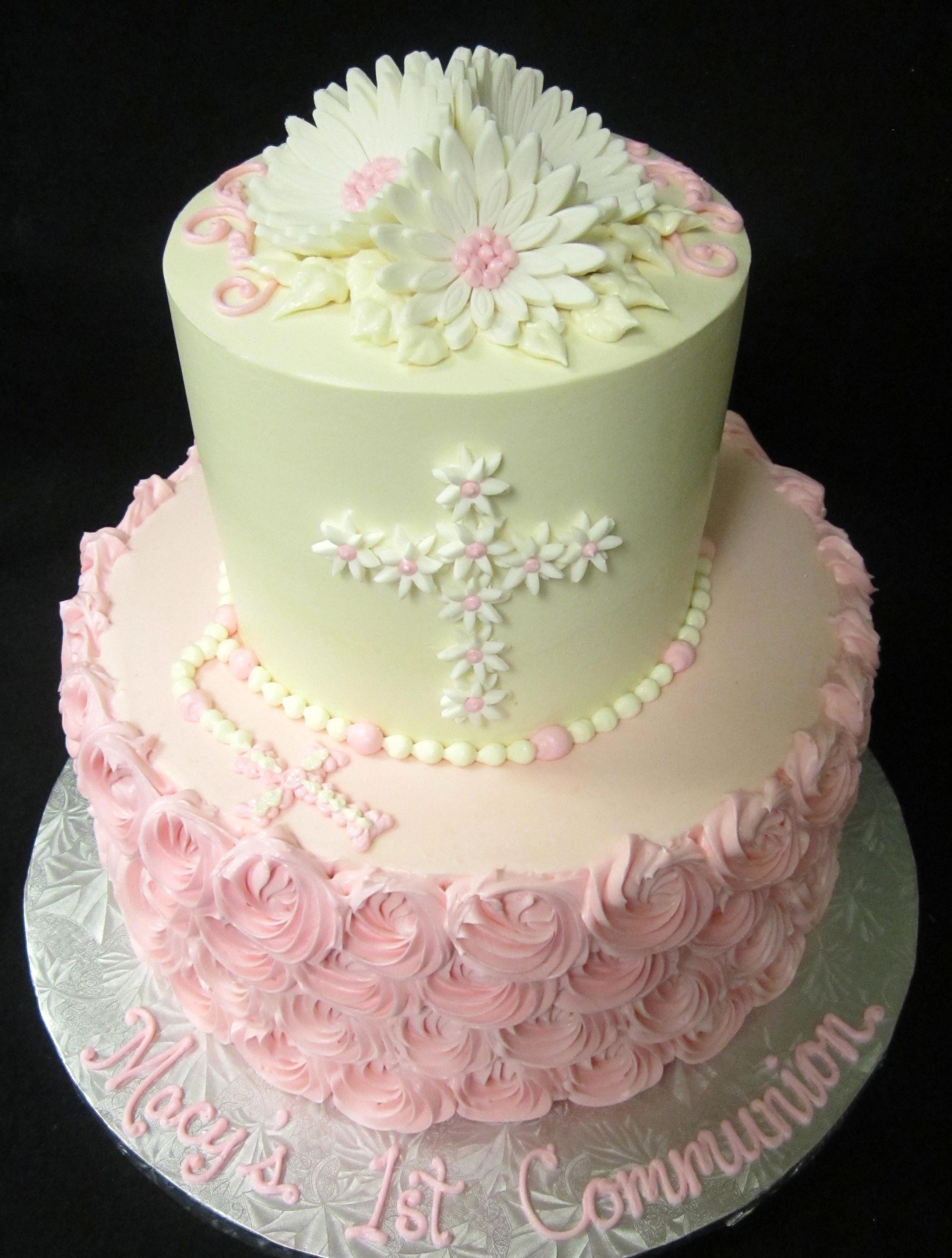 daisy cross communion rosette cake.JPG
