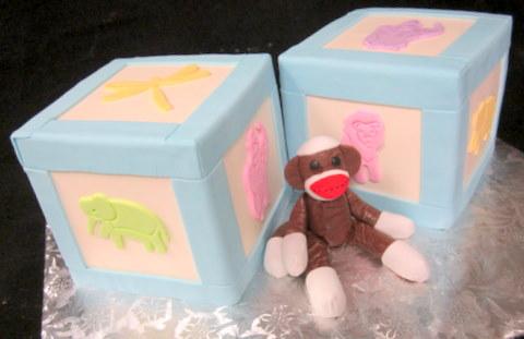 baby blocks with sock monkey.JPG