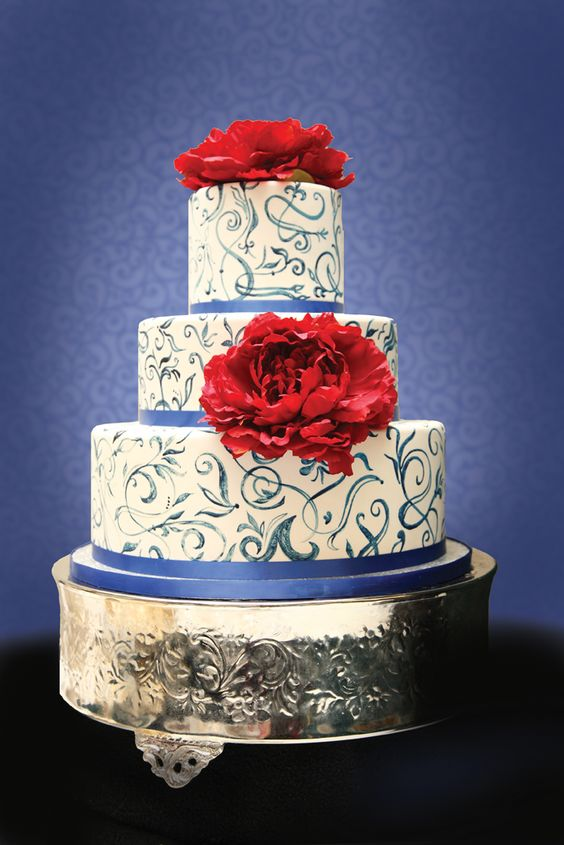 wedding-blue swirls red peonies.jpg