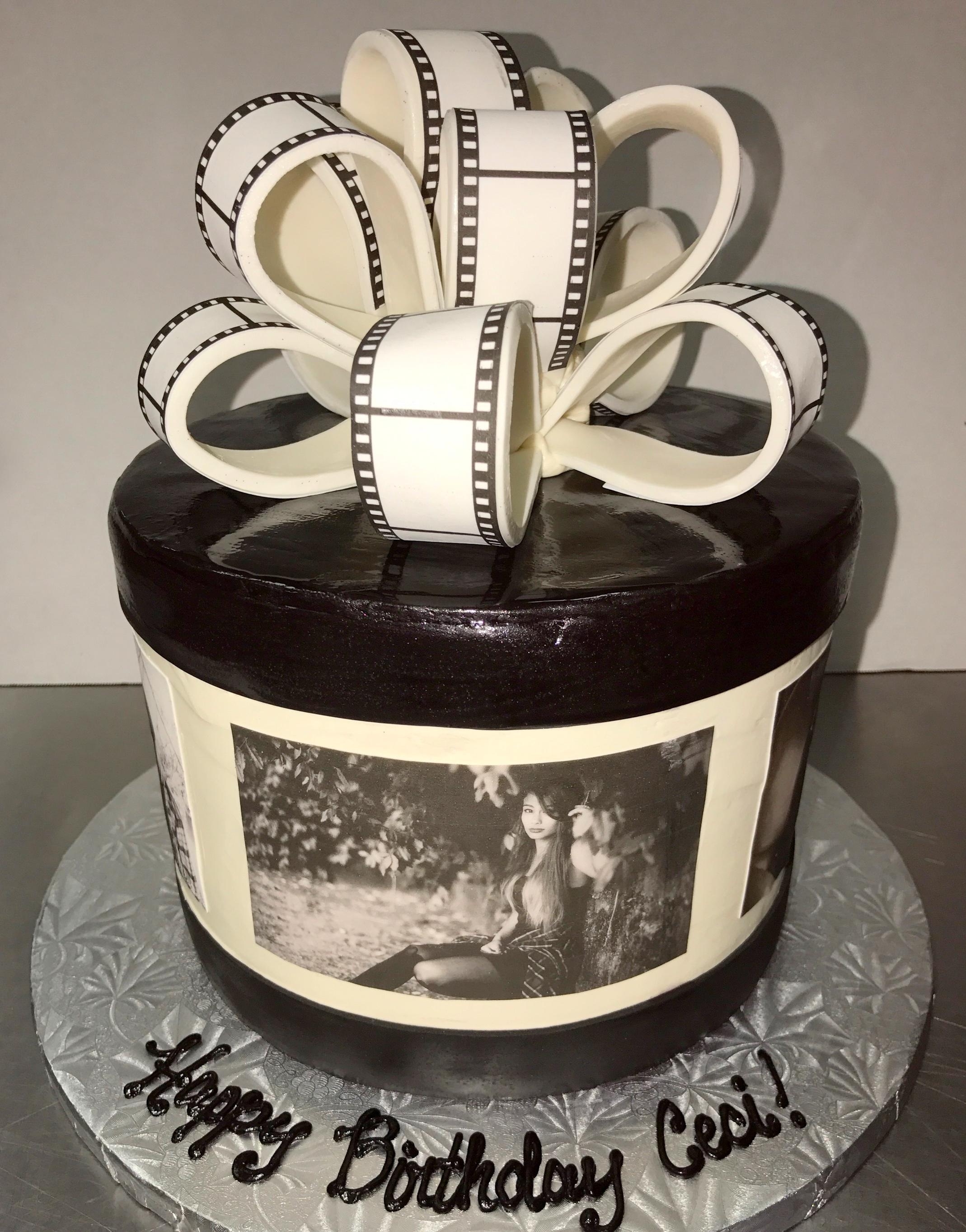 film strip bow cake.JPG
