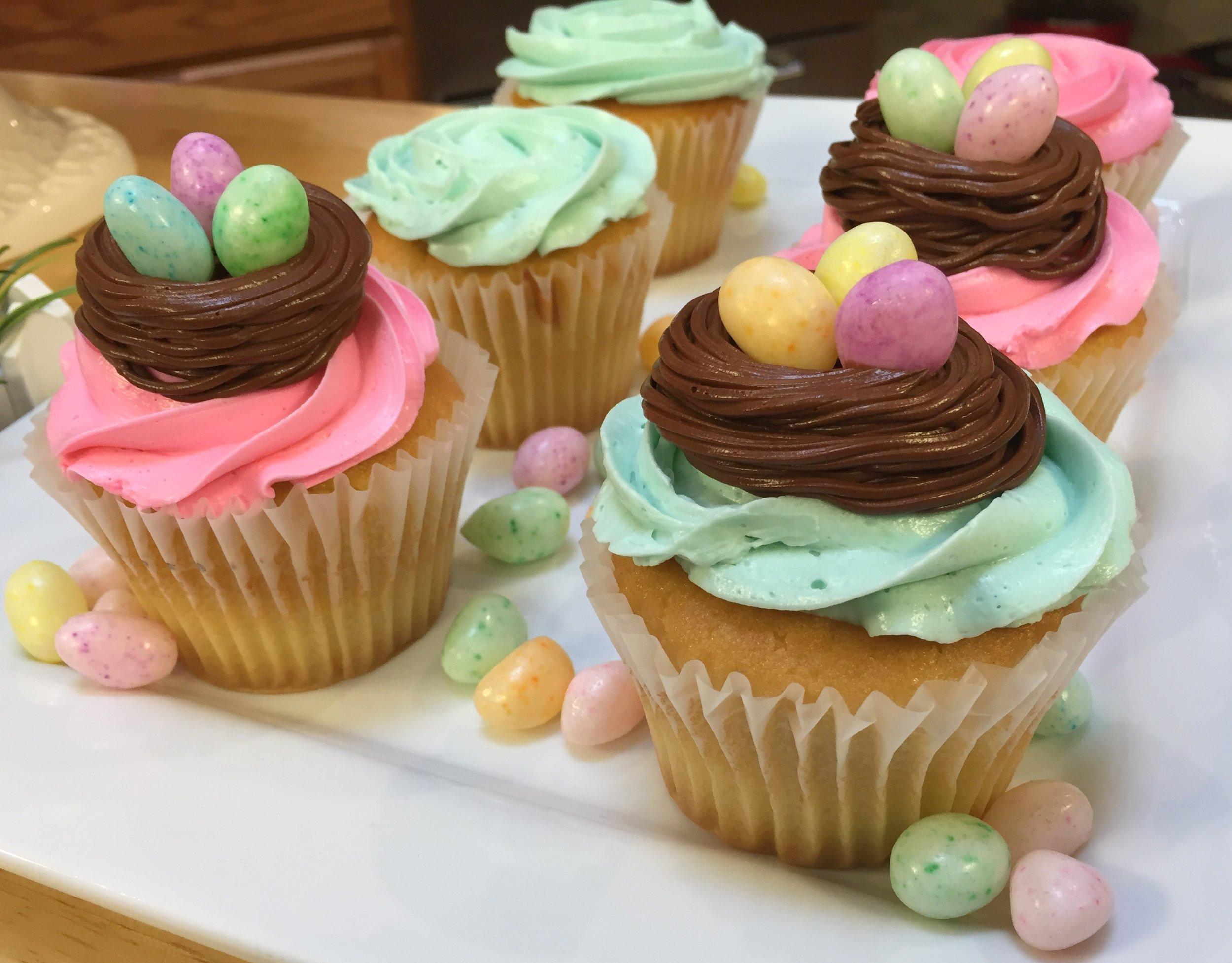 cupcakes - nest with eggs.JPG