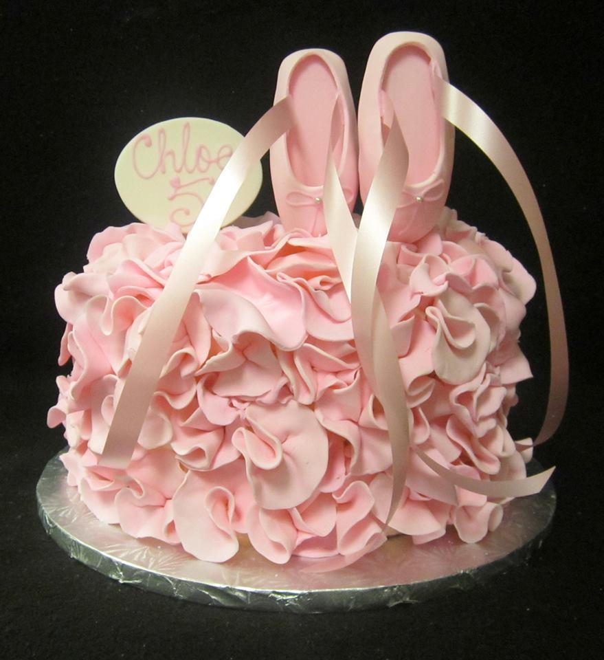 ballet slipper fondant ruffle cake.jpg