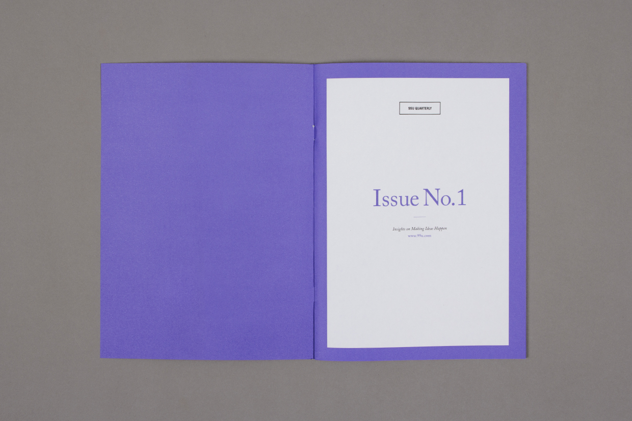 99U Quarterly Magazine Design Issue No. 1